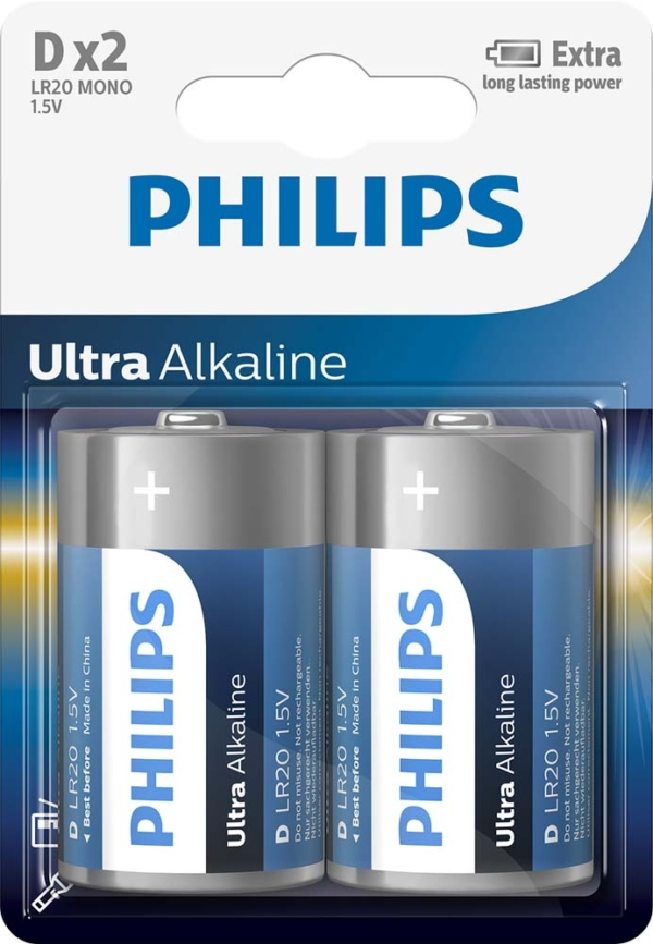Philips batteri D Apollon Lys