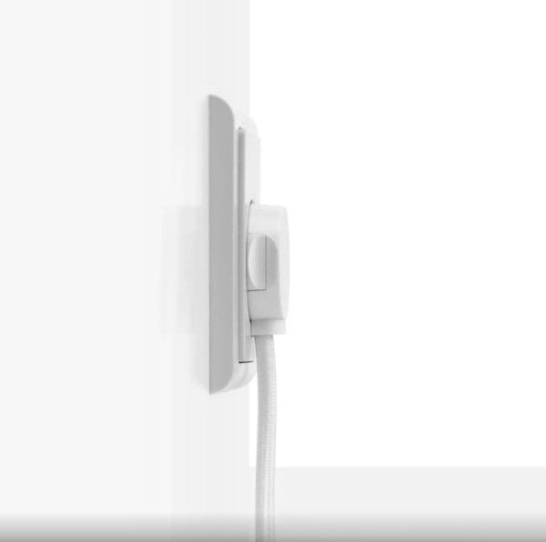 Form stik på væg hvid